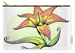 Vibrant Flower 4 Tiger Lily Carry-all Pouch