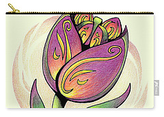 Vibrant Flower 5 Tulip Carry-all Pouch