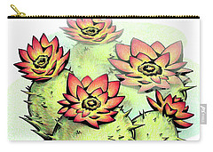 Vibrant Flower 6 Cactus Carry-all Pouch