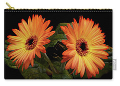 Vibrant Gerbera Daisies Carry-all Pouch by Terence Davis