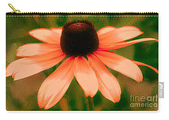 Vibrant Orange Coneflower Carry-all Pouch by Judy Palkimas