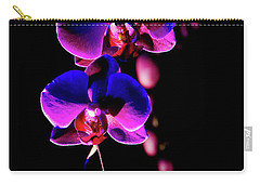 Carry-all Pouch featuring the photograph Vibrant Orchids by Ann Bridges