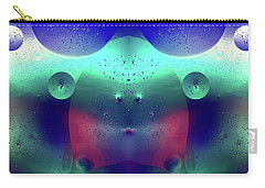 Carry-all Pouch featuring the photograph Vibrant Symmetry Oil Droplets by John Williams