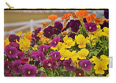 Vibrant Violas Carry-all Pouch by JAMART Photography