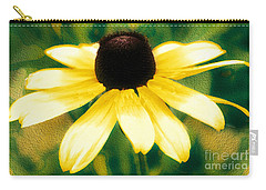 Vibrant Yellow Coneflower Carry-all Pouch by Judy Palkimas