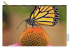 Monarch Butterfly On A Purple Coneflower Carry-all Pouch