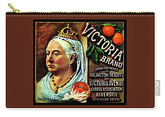 Carry-all Pouch featuring the painting Victoria Brand Sunkist Oranges by Peter Gumaer Ogden
