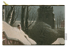 Victorian Christmas Scene With Band Playing In The Snow Carry-all Pouch