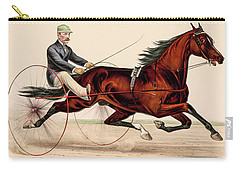 Victorian Horse Carriage Race Carry-all Pouch