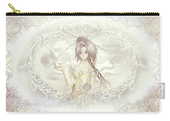 Carry-all Pouch featuring the mixed media Victorian Princess Altiana by Shawn Dall