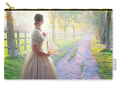 Victorian Woman On A Rural Path At Sunset Carry-all Pouch by Lee Avison