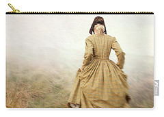 Victorian Woman Running On The Misty Moors Carry-all Pouch