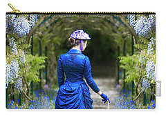 Victorian Woman With Wisteria Carry-all Pouch