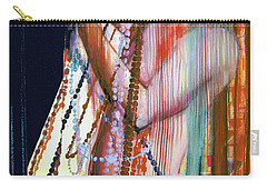 Carry-all Pouch featuring the painting Viel Of Jewels  by Rene Capone