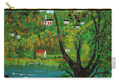 View Across The River Carry-all Pouch by Mike Caitham