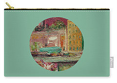 Carry-all Pouch featuring the painting View From A Balcony by Mary Wolf