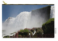 Carry-all Pouch featuring the photograph View From Below Of Niagara Falls by Jeff Folger