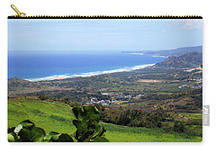 Carry-all Pouch featuring the photograph View From Cherry Hill, Barbados by Kurt Van Wagner