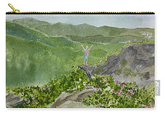 View From Craggy Gardens - A Watercolor Sketch  Carry-all Pouch