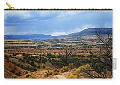 Carry-all Pouch featuring the photograph View From Ghost Ranch, Nm by Kurt Van Wagner