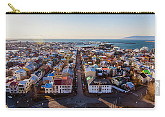 Carry-all Pouch featuring the photograph View From Hallgrimskirka by Wade Courtney