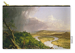 View From Mount Holyoke Northampton Massachusetts After A Thunderstorm. The Oxbow Carry-all Pouch by Thomas Cole