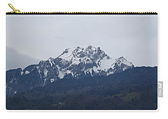 Carry-all Pouch featuring the photograph View From My Art Studio - Pilatus - March 2018 by Manuel Sueess