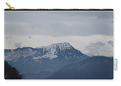 Carry-all Pouch featuring the photograph View From My Art Studio - Stanserhorn - March 2018 by Manuel Sueess