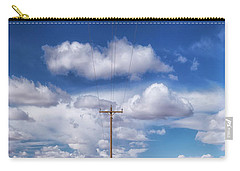 View Of A Phone Pole Carry-all Pouch