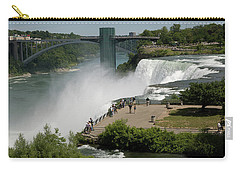 Carry-all Pouch featuring the photograph View Of American Niagara Falls by Jeff Folger
