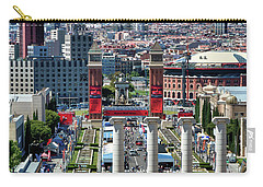 Carry-all Pouch featuring the photograph View Of Barcelona From Montjuic by Eduardo Jose Accorinti