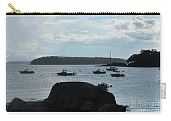View Of Bustin's Island Harbor Carry-all Pouch by DejaVu Designs