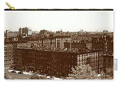 Carry-all Pouch featuring the photograph View Of Harlem In 1950 by Marilyn Hunt