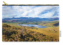 Carry-all Pouch featuring the photograph View Of Lough Acoose In Ballycullane From The Foothill Of Macgil by Semmick Photo