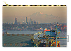 View Of Mount Baker And Vancouver Bc At Sunset Carry-all Pouch