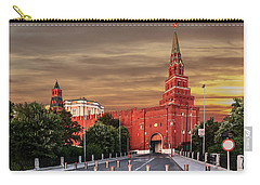 View Of The Borovitskaya Tower Of The Moscow Kremlin Carry-all Pouch