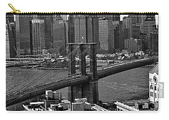 View Of The Brooklyn Bridge Carry-all Pouch