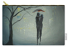 Carry-all Pouch featuring the painting View Of The City by Raymond Doward