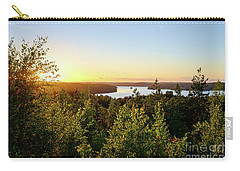 View Of The Lake Hiidenvesi At Sunset Carry-all Pouch