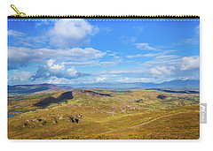 Carry-all Pouch featuring the photograph View Of The Mountains And Valleys In Ballycullane In Kerry Irela by Semmick Photo
