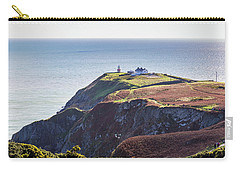 Carry-all Pouch featuring the photograph View Of The Trails On Howth Cliffs And Howth Head In Ireland by Semmick Photo