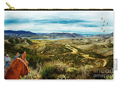 View Of Vail Lake On Horseback Carry-all Pouch