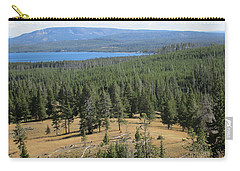 Carry-all Pouch featuring the photograph View Of Yellowstone Lake From Top Of Trail by Marie Neder