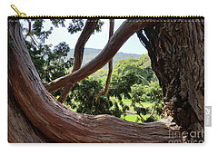 Carry-all Pouch featuring the photograph View Through The Tree by Carol Lynn Coronios