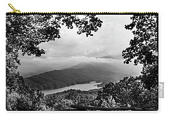 View Through The Trees In Black And White Carry-all Pouch