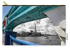 Carry-all Pouch featuring the photograph View Through Tower Bridge by Shirley Mitchell
