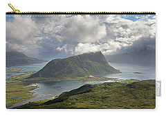 View Towards Offersoykammen From Holandsmelen Carry-all Pouch by Aivar Mikko