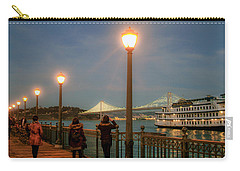 Viewing The Bay Bridge Lights Carry-all Pouch