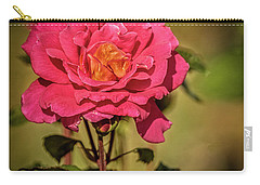 Carry-all Pouch featuring the photograph Vignetted  Rose by Robert Bales