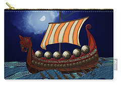 Carry-all Pouch featuring the digital art Viking Ship by Megan Dirsa-DuBois